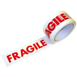 FRAGILE Low Noise Printed Packing Tape 48mm x 66m