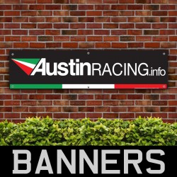 Austin Racing Italian Flag Car PVC Banner
