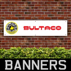Bultaco Motorcycles Red Logo PVC Banner