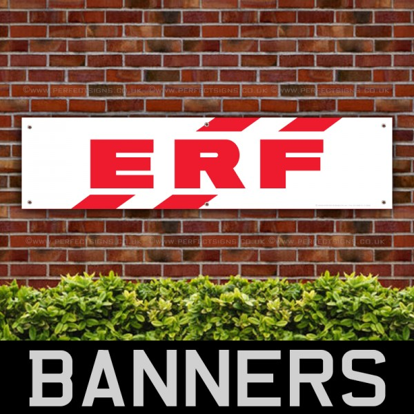 ERF Truck Red PVC Banner