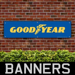 Goodyear Tyres Yellow and Blue PVC Banner