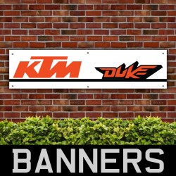 KTM Duke Motorbike Racing Signs PVC Banner