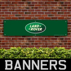 Land Rover Green PVC Banner