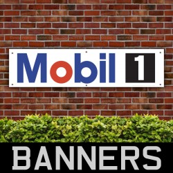 Mobil 1 Engine Oil PVC Banner