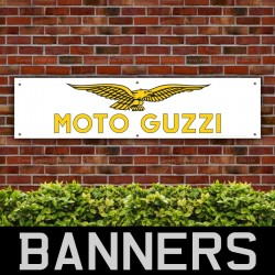 Moto Guzzi Motorcycles Gold-Yellow PVC Banner