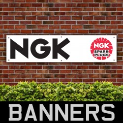 NGK Spark Plugs PVC Banner