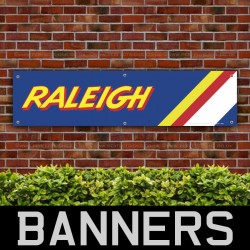 Raleigh BMX Bicycle Retro PVC Banner
