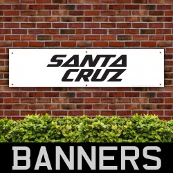 Santa Cruz Bicycles Black PVC Banner