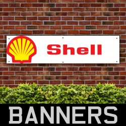 Shell Motor Oil Fuel PVC Banner