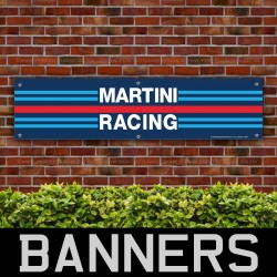 Martini Racing Stripes PVC Banner