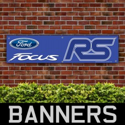 Ford Focus RS Blue PVC Banner