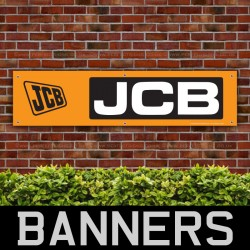 JCB Black And Yellow PVC Banner