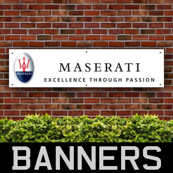 Maserati Excellence Through Passion PVC Banner