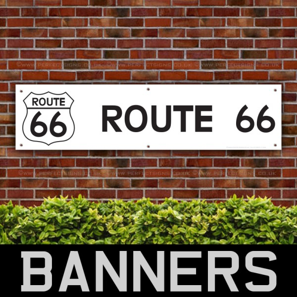 Route 66 USA PVC Banner