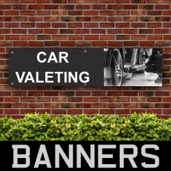 Car Valeting PVC Banner