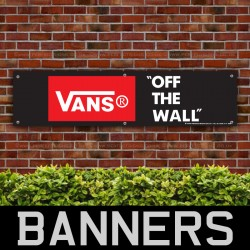 Vans Off The Wall Red And Black PVC Banner