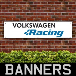 Volkswagen Racing PVC Banner Garage Workshop Sign