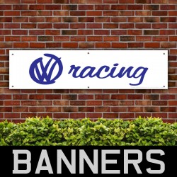 VW Volkswagen Blue Racing PVC Banner