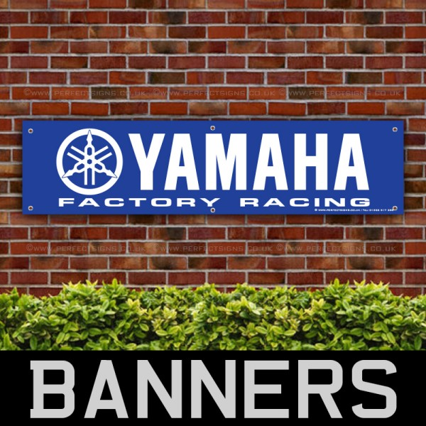 YAMAHA Motorcycles Factory Racing PVC Banner