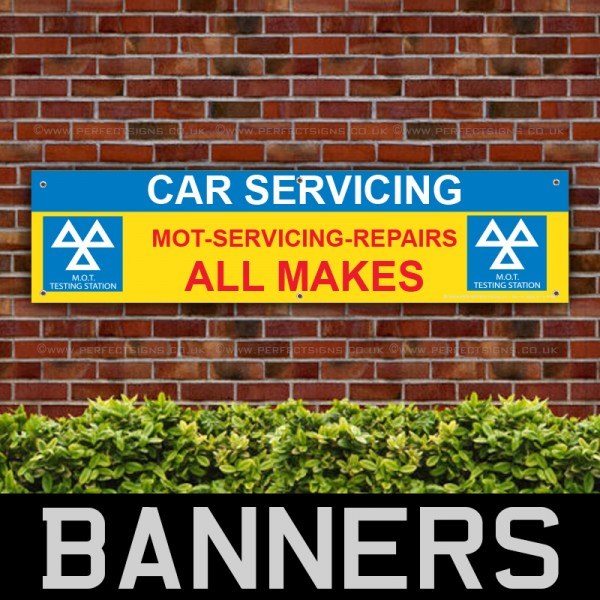 Car Servicing MOT Services Repairs PVC Banner