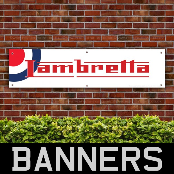 Lambretta Scooters Target PVC Banner