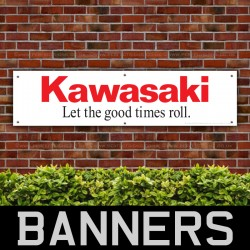Kawasaki Let The Good Times Roll PVC Banner