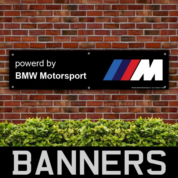 Powered By BMW Motorsport Black PVC Banner