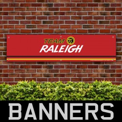 Raleigh Team Bicycle Retro PVC Banner