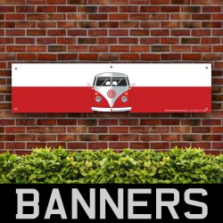 Volkswagen VW Campervan Red PVC Banner