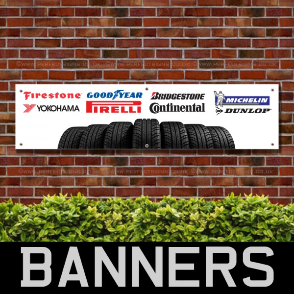 Tyres PVC Banner