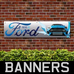 Ford Focus RS PVC Banner