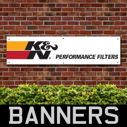KN Performance Filters PVC Banner