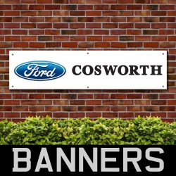 Ford Cosworth White PVC Banner