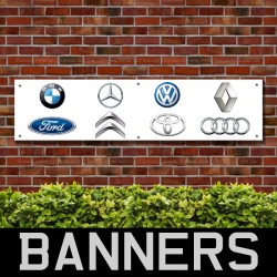 BMW Ford Brands PVC Banner