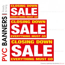 Closing Down Sale PVC Banner