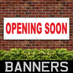 OPENING SOON PVC Banner