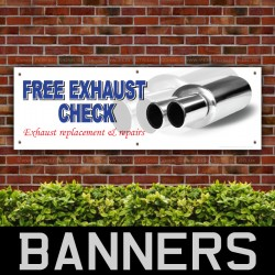 Free Exhaust Check PVC Banner