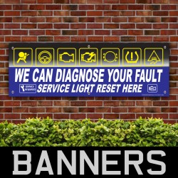 Diagnostic Fault Light Service PVC Banner
