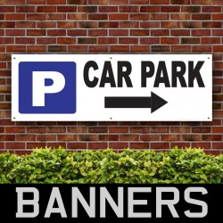 Car Park Right Arrow PVC Banner
