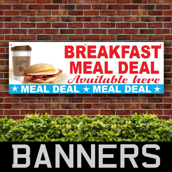 Breakfast Meal Deal PVC Banner