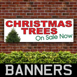 Christmas Trees Sale PVC Banner