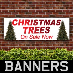 Christmas Trees On Sale PVC Banner