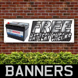 Free Battery Checks PVC Banner