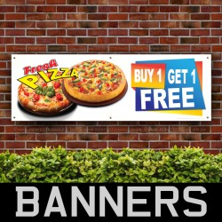 Fresh Pizza PVC Banner