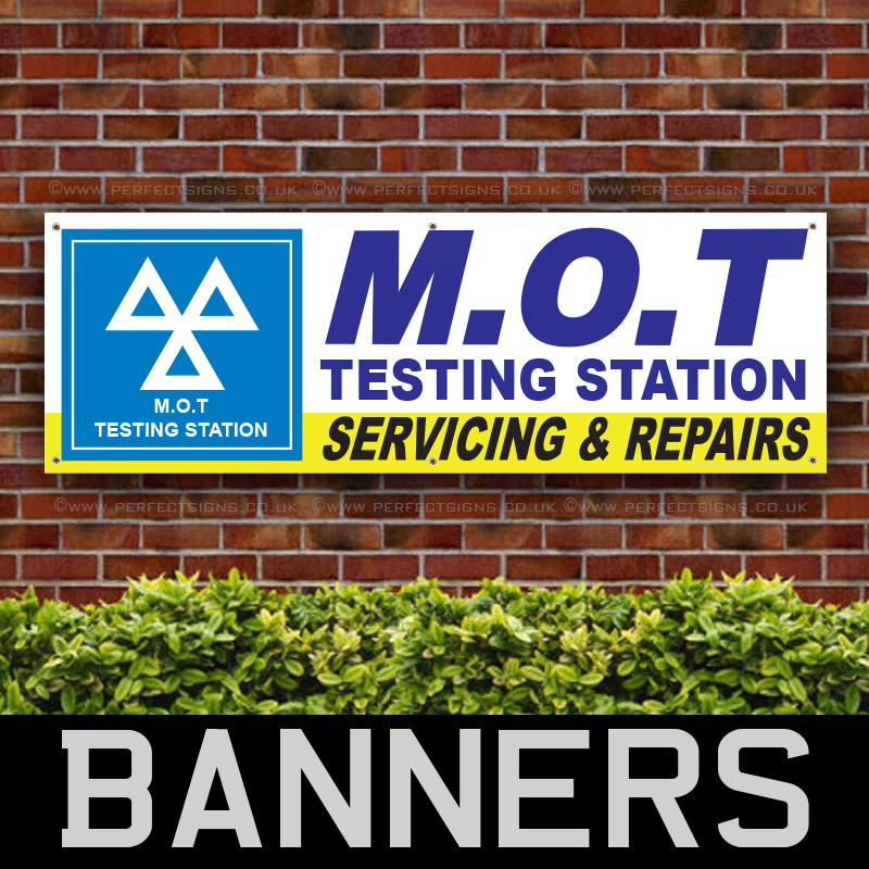 MOT TESTING SERVICING REPAIRING CENTRE PVC BANNER PRINTING SIGNS ADVERTISING