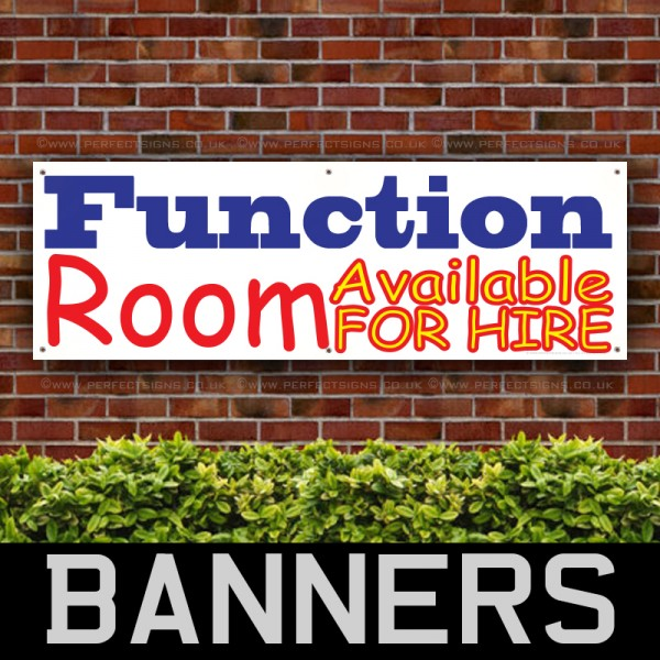 Function Room Available For Hire PVC Banner
