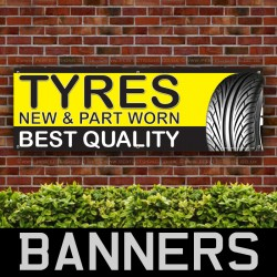 Tyres New And Part Worn PVC Banner