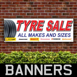 Tyres Sale All Make and Sizes PVC Banner