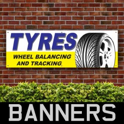 Tyres WheelBalancing and Tracking PVC Banner