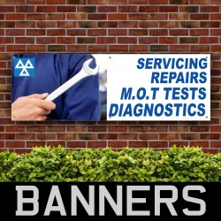 Servicing Repairs MOT Test PVC Banner